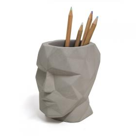 Pen Pot Concrete Head