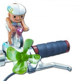 Cycliste lumineux