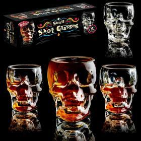 Skull glasses (x4)